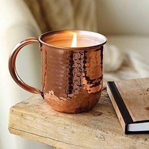 Thymes Simmered Cider Aromatic Candle with Mug